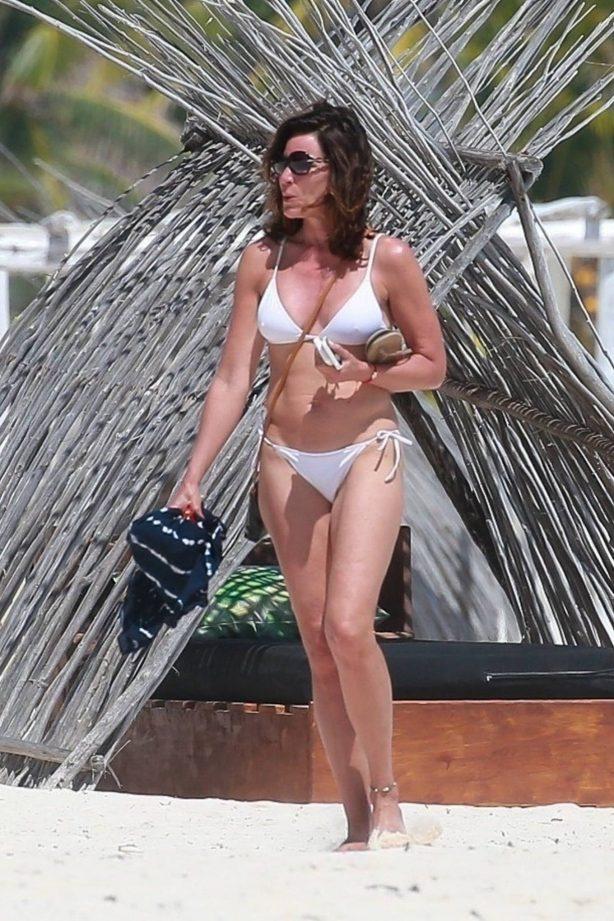 Luann de Lesseps - In a white bikini in Tulum