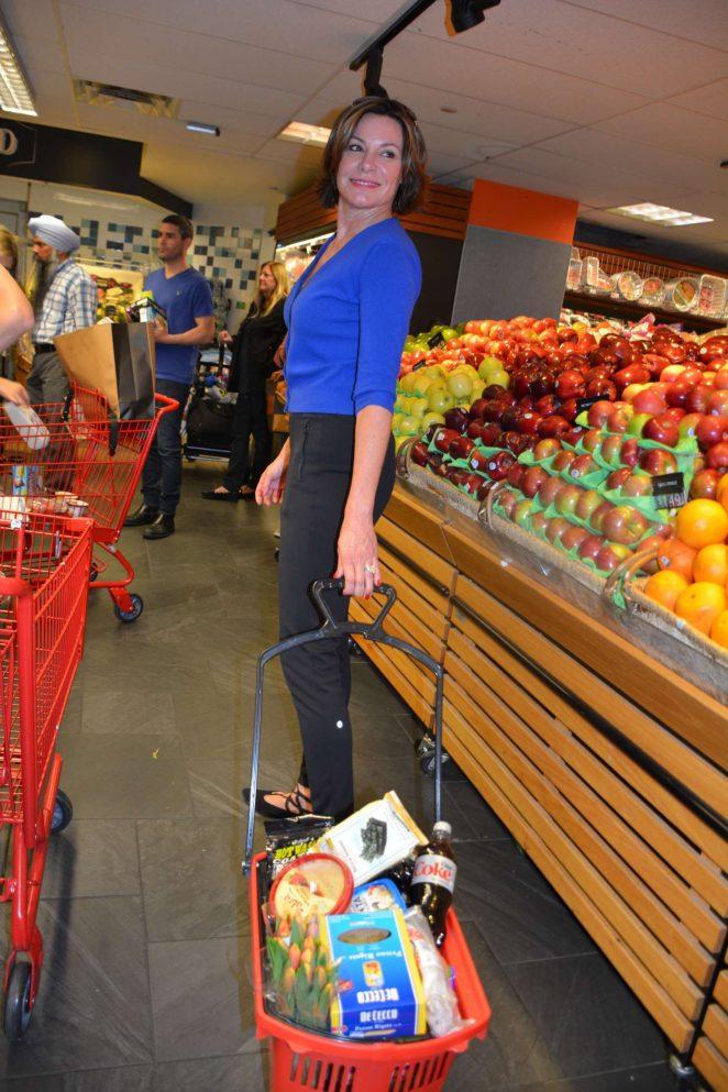 Luann De Lesseps Shopping at Morton Village Supermarket in NY