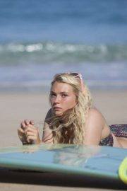 Lucie Donlan in Bikini - Poses for a surfwear photoshoot in Fuerteventura