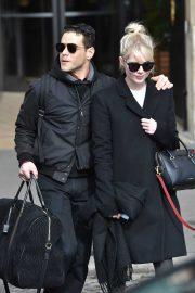 Lucy Boynton and Rami Malek - Leaving the Hotel de Crillon in Paris