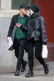 Lucy Boynton and Rami Malek - Out shopping in Manhattan