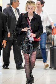 Lucy Boynton - Arriving at LAX Airport in Los Angeles