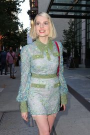 Lucy Boynton in Mini Dress - Out in New York