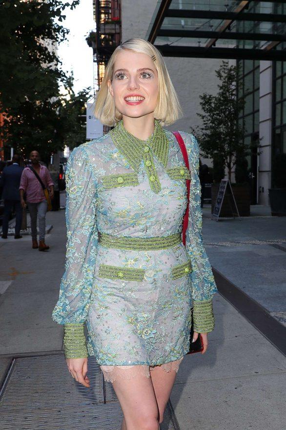 Lucy Boynton in Mini Dress - Out in New York