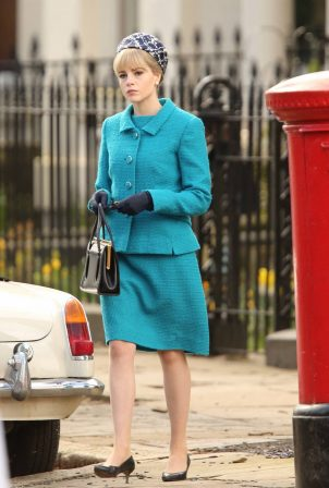 Lucy Boynton - Spotted filming ITV's adaptation of 'The Ipcress File' in Liverpool
