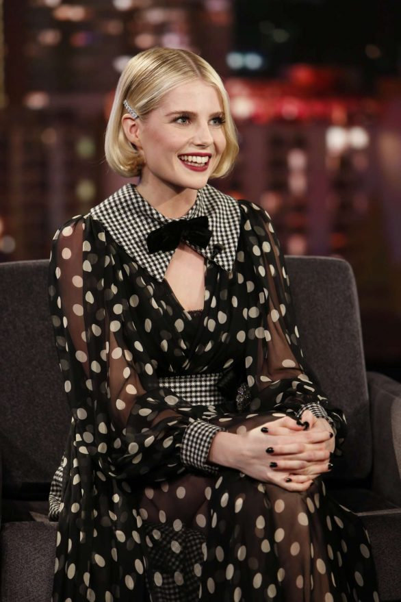 Lucy Boynton - Visits Jimmy Kimmel Live! in Hollywood