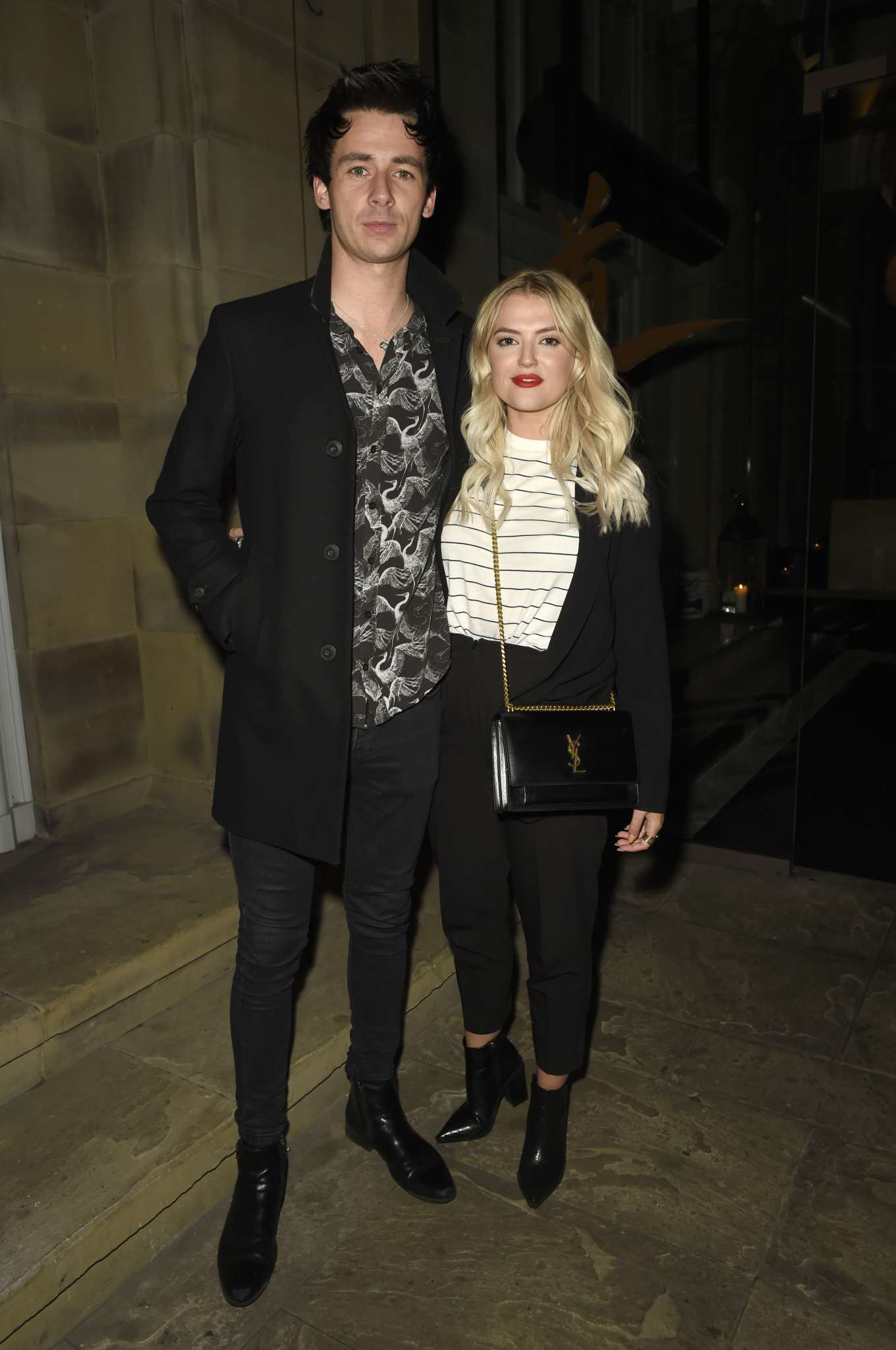 Lucy Fallon and her boyfriend Tom Leech at Peter Street Kitchen Restaurant in Manchester