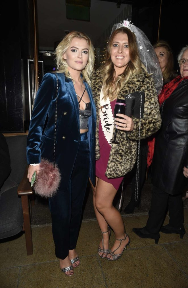 Lucy Fallon and her sister at The Living Room in Manchester