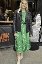 Lucy Fallon - Arriving at the Wok to Walk Chinese Restaurant Launch Party in Manchester
