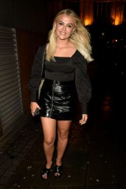 Lucy Fallon in Mini Skirt at Impossible in Manchester