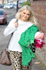 Lucy Fallon - Leaving Photoshoot in Manchester