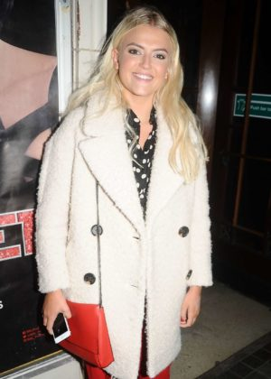 Lucy Fallon - Seen leaving the 'Cabaret' musical at the Blackpool Winter Gardens