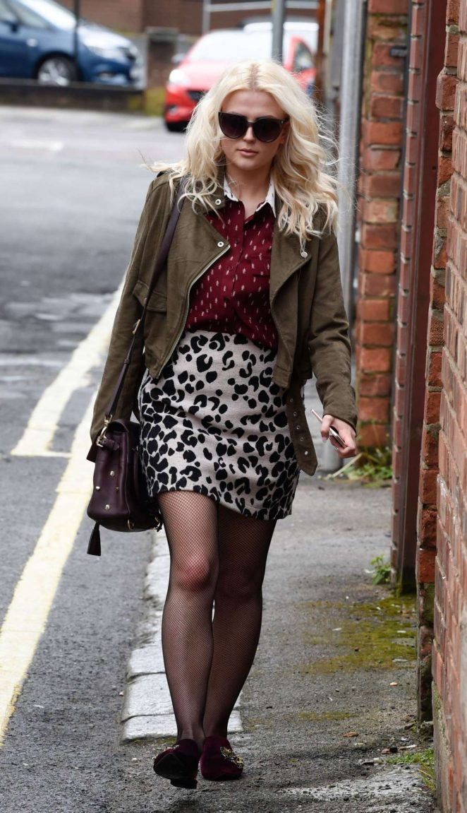 Lucy Fallon visits beauty clinic in Lancashire