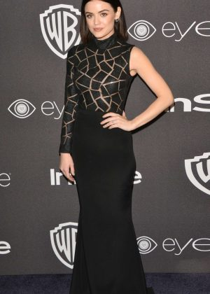Lucy Hale - 2017 InStyle and Warner Bros Golden Globes After Party in LA