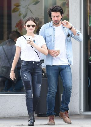 Lucy Hale and Anthony Kalabretta Gets Coffee in Los Angeles