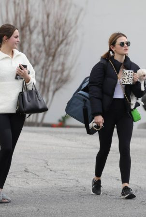 Lucy Hale and Bailee Madison - Spotted after a yoga class in West Hollywood