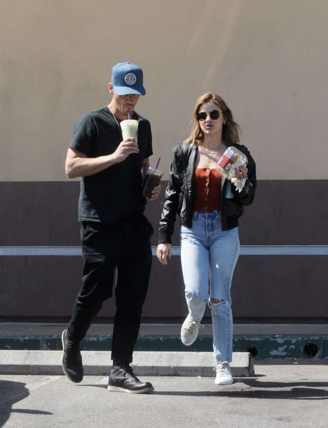 Lucy Hale and Riley Smith Out in Studio City