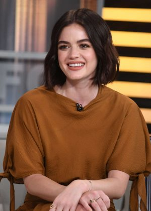 Lucy Hale - Appears on Good Day New York Fox 5 in NYC