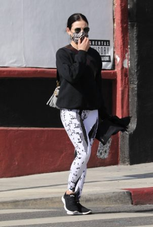 Lucy Hale - Arrives at a private gym in Los Angeles