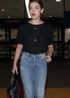 Lucy Hale - Arrives at LAX Airport in LA