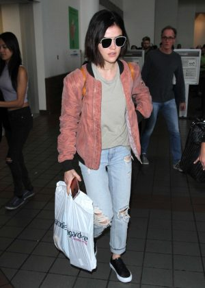 Lucy Hale - Arrives at LAX Airport in Los Angeles