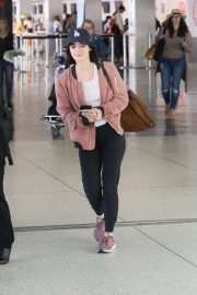Lucy Hale - Arrives at LAX International Airport in LA