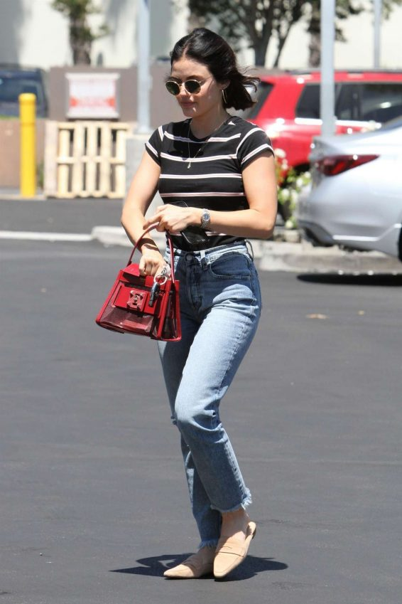 Lucy Hale - Arrives at the Coffee Bean in Studio City