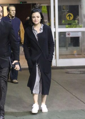 Lucy Hale - Arrives back into Vancouver