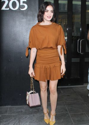 Lucy Hale - Arrives on Good Day NY in New York City