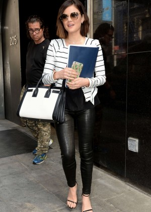 Lucy Hale in Leather at Good Day New York in NY