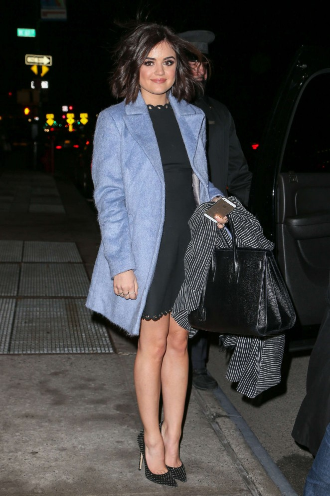 Lucy Hale - Arriving at 'Late Night With Seth Meyers' in NYC