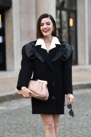 Lucy Hale - Arriving at the Miu Miu Show in Paris
