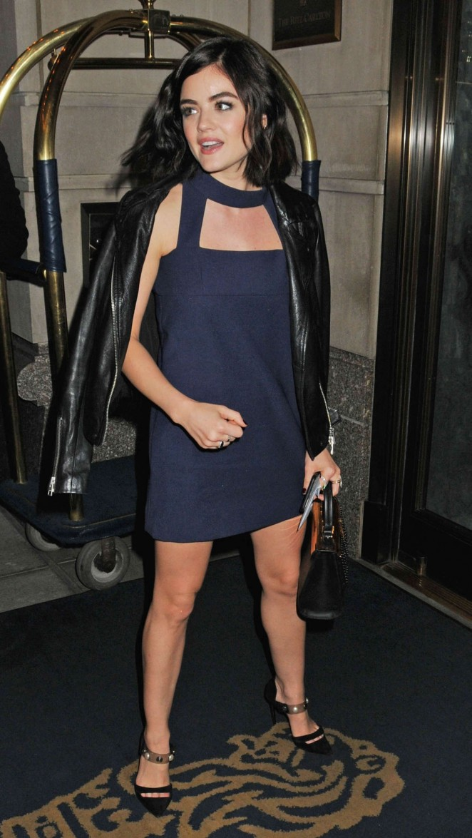 Lucy Hale - Arriving at the Ritz-Carlton Hotel in NY
