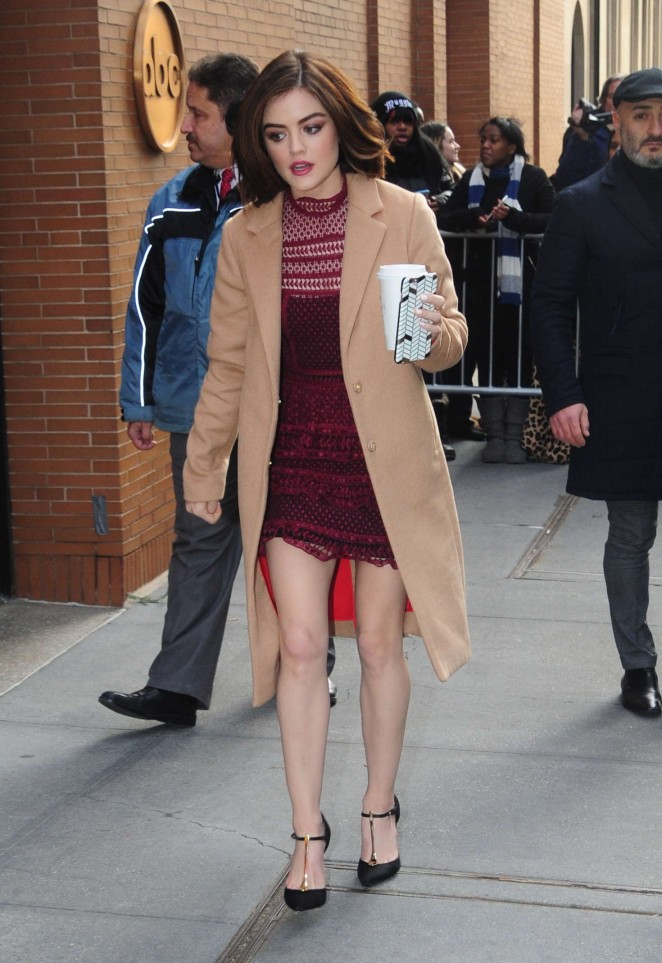 Lucy Hale - Arriving at the View in New York City
