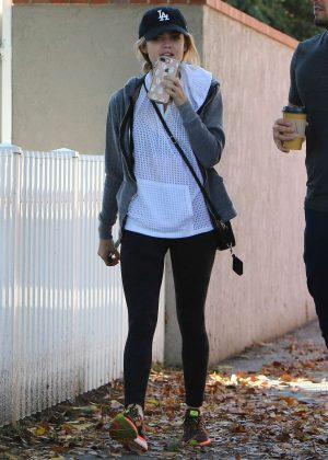 Lucy Hale at Aroma Cafe in Studio City
