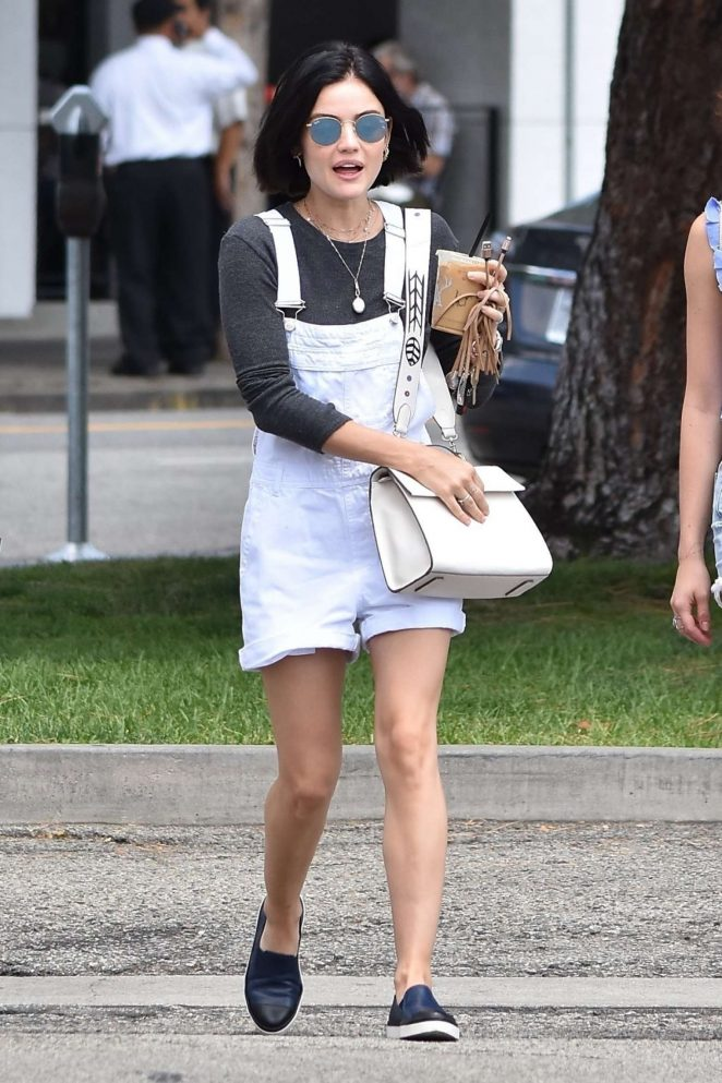 Lucy Hale at Joan's on Third for lunch in Studio City