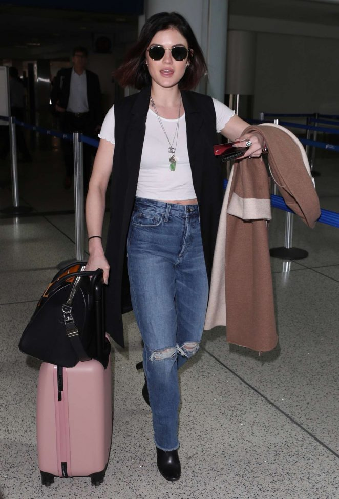Lucy Hale at LAX International Airport in Los Angeles