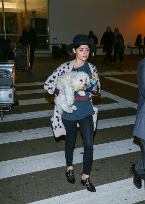 Lucy Hale at Los Angeles International Airport