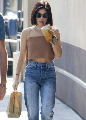 Lucy Hale at Starbucks in Los Angeles