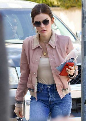 Lucy Hale at Starbucks in Studio City