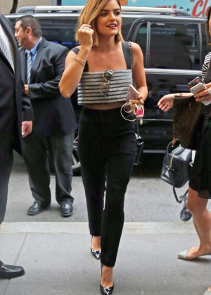 Lucy Hale at the NBC Studios in NYC