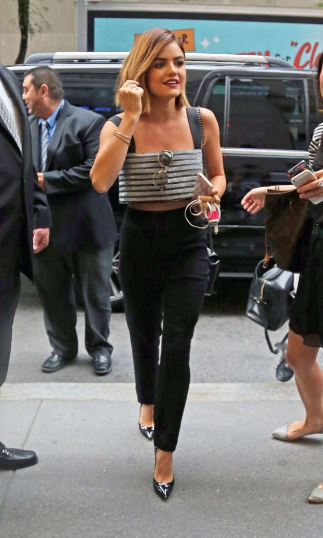 Lucy Hale at the NBC Studios in New York City