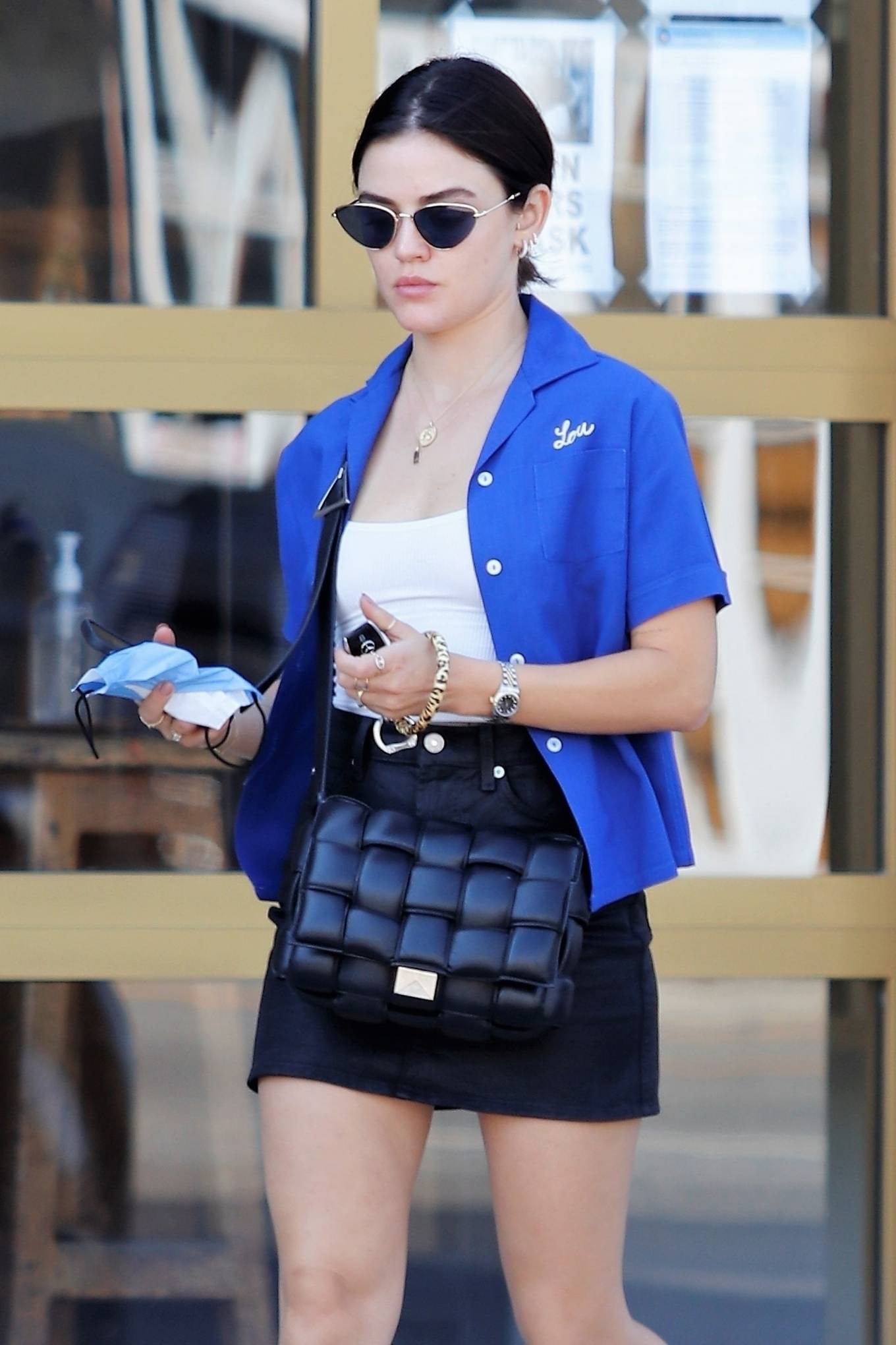 Lucy Hale - Enjoys her iced coffee while in Los Angeles