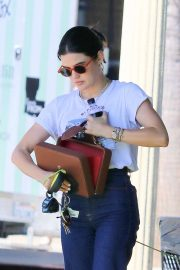 Lucy Hale - Exits Joan's On Third after Lunch in Studio City