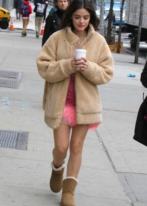 Lucy Hale - Filming 'Katy Keene' in NYC