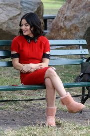 Lucy Hale - Filming 'Katy Keene' set in Manhattan