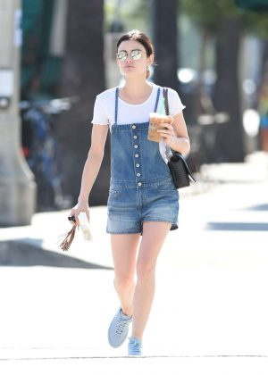 Lucy Hale get coffee in Los Angeles