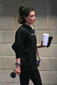 Lucy Hale - Gets a workout at a Private Gym in Los Angeles
