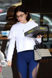 Lucy Hale - Grabbing some coffee and fonuts in Studio City
