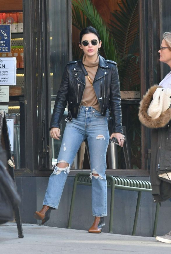 Lucy Hale - Grabs an Iced Coffee in New York